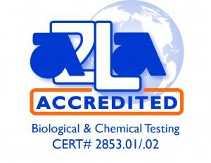 A2LA accredited symbol.285